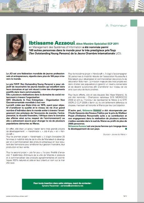 Centralien à l'honneur / Article sur la revue Centrale Paris - Edition Octobre Novembre 2011 ecp-article